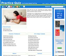 Free Exam Prep from PracticeQuiz.com
