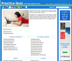 Free Exam Prep from PracticeQuiz.com