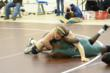 Sophomore Clay McKee pins a George School opponent on the way to the 8th consecutive FSL wrestling championship