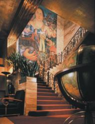 The grand staircase at The City Club of San Francisco