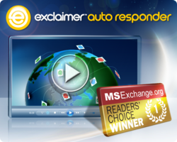Exclaimer Auto Responder and MSExchange.org Readers' Choice Award