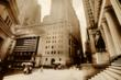 architectural photography; fine art photography; Wall Street; New York City; sepia photography