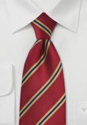 regimental striped ties