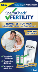 The Only FDA Approved, At-Home Screening Test for Men to Determine Normal or Low Sperm Count, Now Available to Couples Planning or Struggling to Conceive