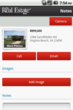 Sample Screenshot from The Real Estate Book's New Android App