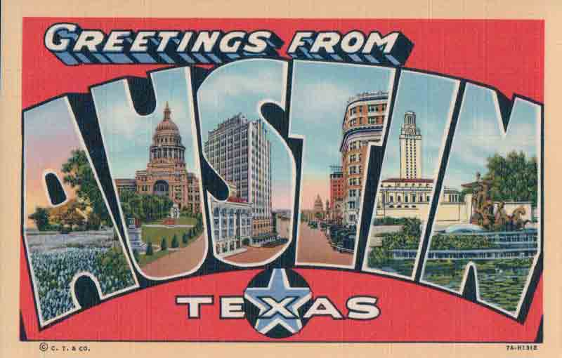 Austin Texas Antique Postcard Amp Paper American Show And
