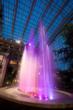 Atrium Fountain at Dusk at the Gaylord National Resort