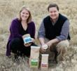 CEO Callie Novak and COO Jos Zamzow look at Dynamite's new environmentally friendly packaging.