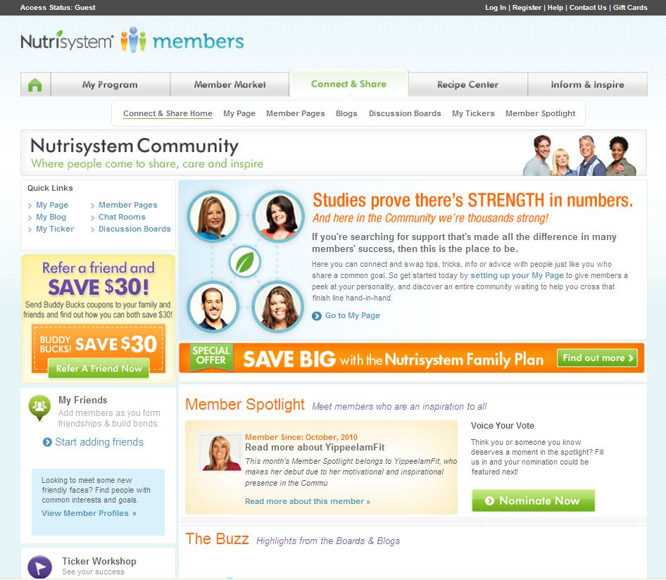 Nutrisystem Launches New Community Site