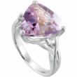 Fancy-cut Rose De France amethyst ring from PenelopePoet.com