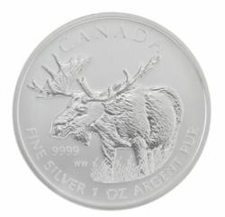 $5 Canadian Silver Moose Coin 2012