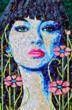 Photo of a garden inspires fine art portrait of a woman; created from Junk Mail by Sandhi Schimmel Gold