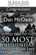 2011 winner badge SLMA Dan McDade