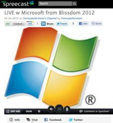 5 Minutes for Mom and Windows Live Spreecast