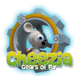 Cheezia: Gears of Fur logo with mouse