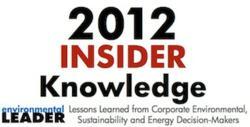 Environmental Leader's 2012 Insider Knowledge Report