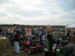 Lawn mower racers prepare for the annual Huntington's Disease Race For Research in Sparta, Michigan.