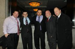 Left to Right: James Puleo, Isaac D. Stern, Alfredo Orozco, Brett Marmott & Evan Marmott