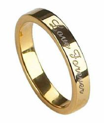 Gold-Plated Tungsten Love Forever Ring