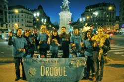 Scientologists distributed thousands of Truth About Drugs booklets in the 17th arrondissement in Paris Sunday.