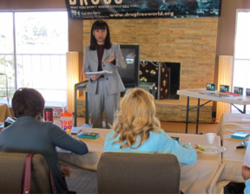 Rev. Edith Reuveni, President of the Church of Scientology Los Angeles, trained Christian ministers at the Evangelical Christian Church on the Hill in Redlands, California, February 21 on The Truth About Drugs drug prevention curriculum.