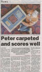 'Peter carpeted and scores well'  By Chris Riches, Express Telegraph, 5 August 2003