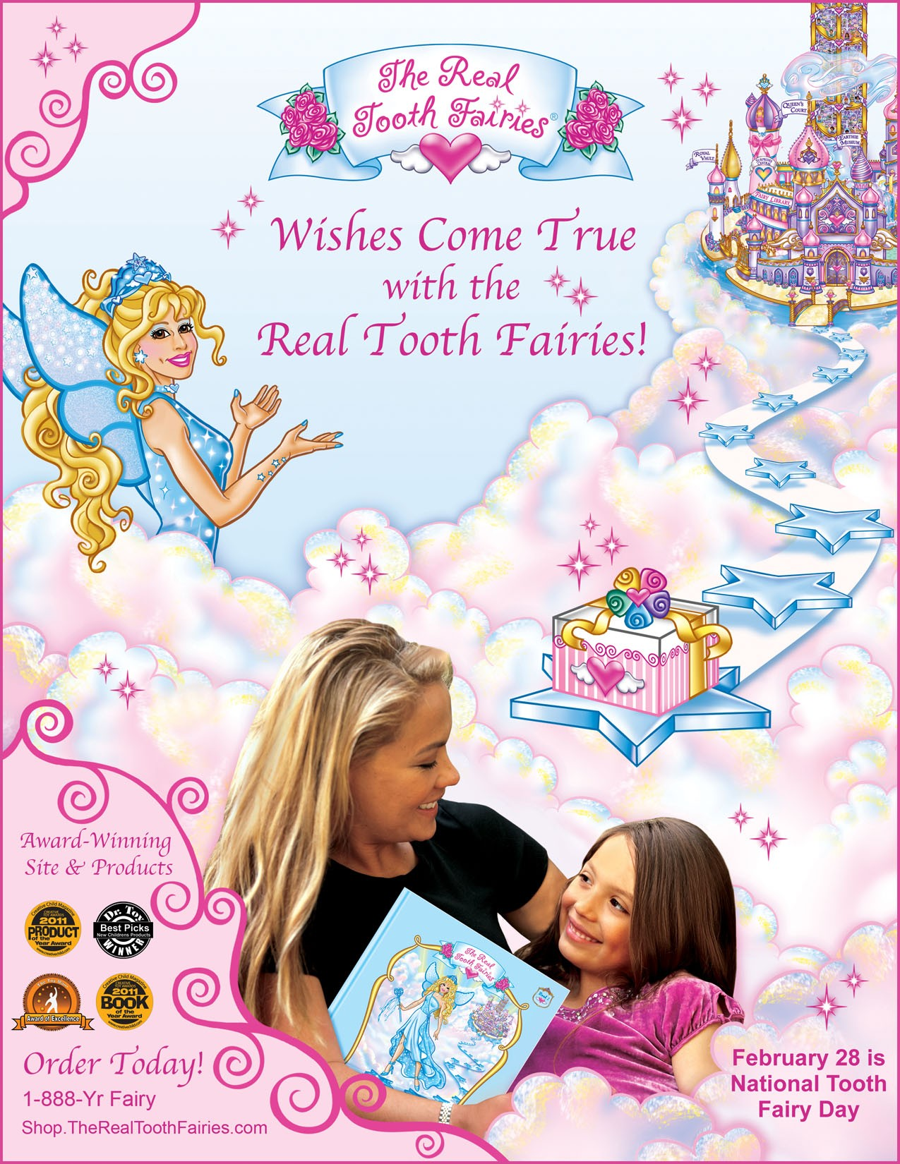 from real fairyland to earth the realtooth fairy magically arrives for national tooth fairy day. Black Bedroom Furniture Sets. Home Design Ideas