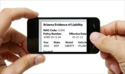 Graphic of smart phone insurance app