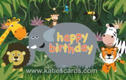 'Jungle Jingle' Birthday ecard from www.katiescards.com