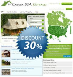 Cottage rental listing discount.