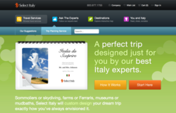 Select Italy's Custom trip Planning tool for Italy Vacations