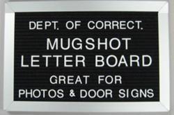 mugshot letter board