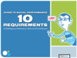 10 Requirements for Social Performance