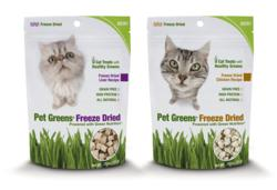 Pet Greens Freeze Dried Cat Treats, made with wheat grass, debut at Global Pet Expo.
