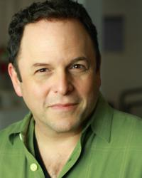 Jason Alexander wearing his new Farrell Hair System