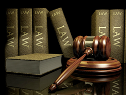 Image of law books and a gavel.