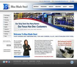 BlueBladeSteel.com - Strip Steel Harden and Tempering Mill