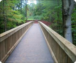 Choate Rosemary's Timber Pedestrian Bridge Features Composite Decking