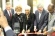 Pictured (left to right) at ribbon cutting ceremony: Christopher Vogelsang, Congresswoman Louise Slaughter, Dr. LaVonne Ansari, William Corr, and Mayor Byron Brown.