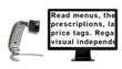 Transformer VGA/USB portable electronic magnifier with monitor