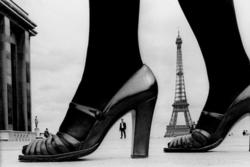 Shoe and Tour Eiffel by Frank Horvat