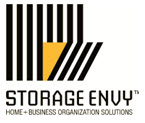 Logo for Storage Envy. New set of products launched by Garage Renovation leader, Garage Envy