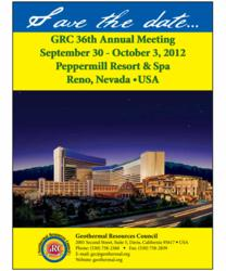 GRC 2012 Annual Meeting will be held at the Peppermill Resort Spa, Reno, Nevada, USA.