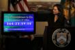 Treasurer of the United States Rosie Rios starts the official countdown clock
