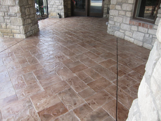 Stamped Concrete Overlay St. LouisConcrete Patio In St. Louis, ...