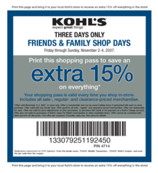 Kohls Coupons Released On Couponscratch Com For 15 Retail Discounts