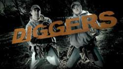 DIGGERS metal logo waterjet cut by Jet Edge