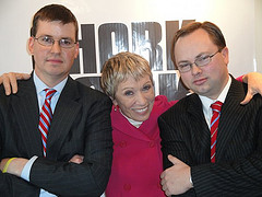 Shark Tank's Barbara Corcoran with Pork Barrel BBQ founders - www.porkbarrelbbq.com