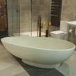 Olympian Nero Thinn Freestanding Quarrystone Bath from Boundary Bathrooms
