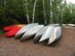Rental canoes at Sawbill campground